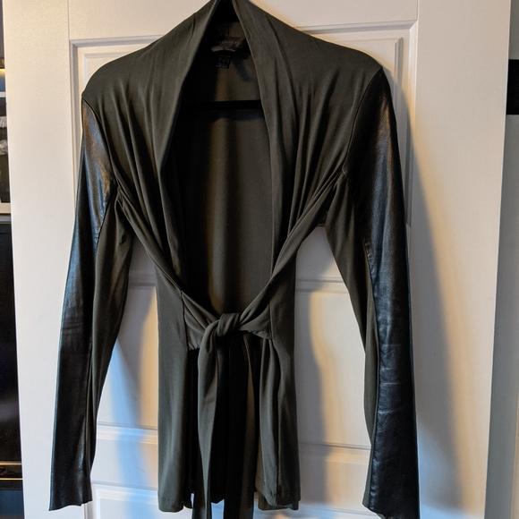 Danier blazer with leather sleeves